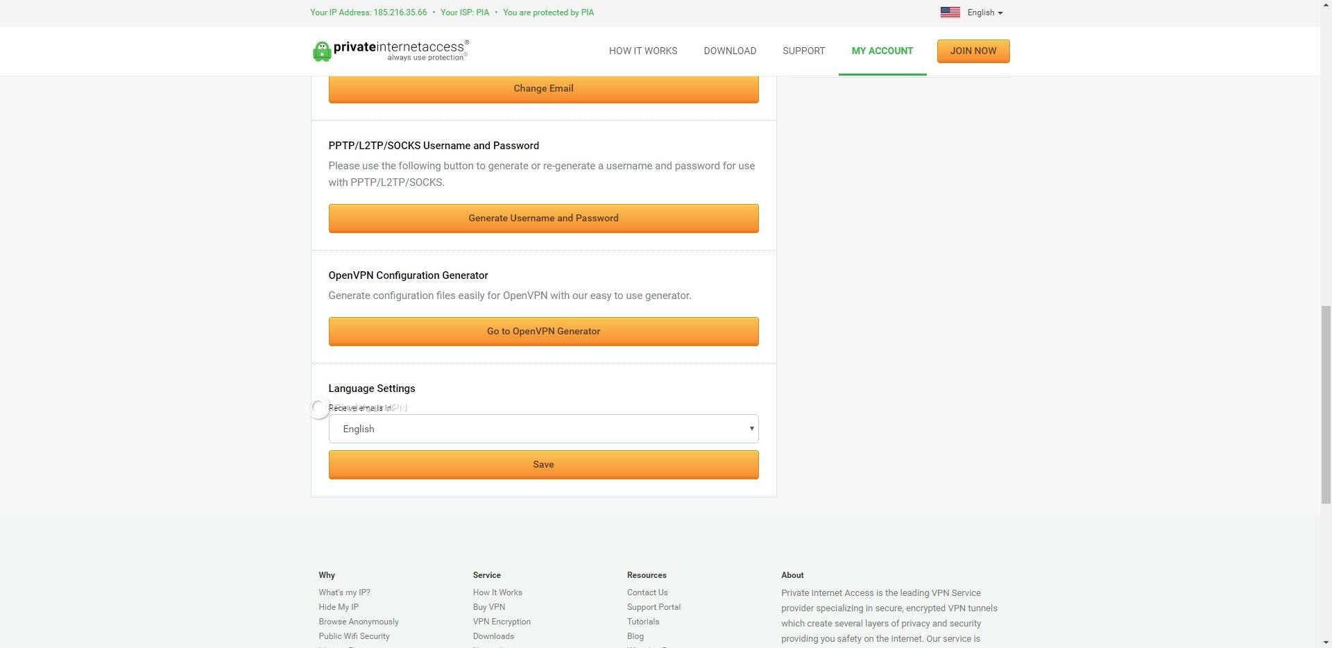 PIA Dashboard Username Generator