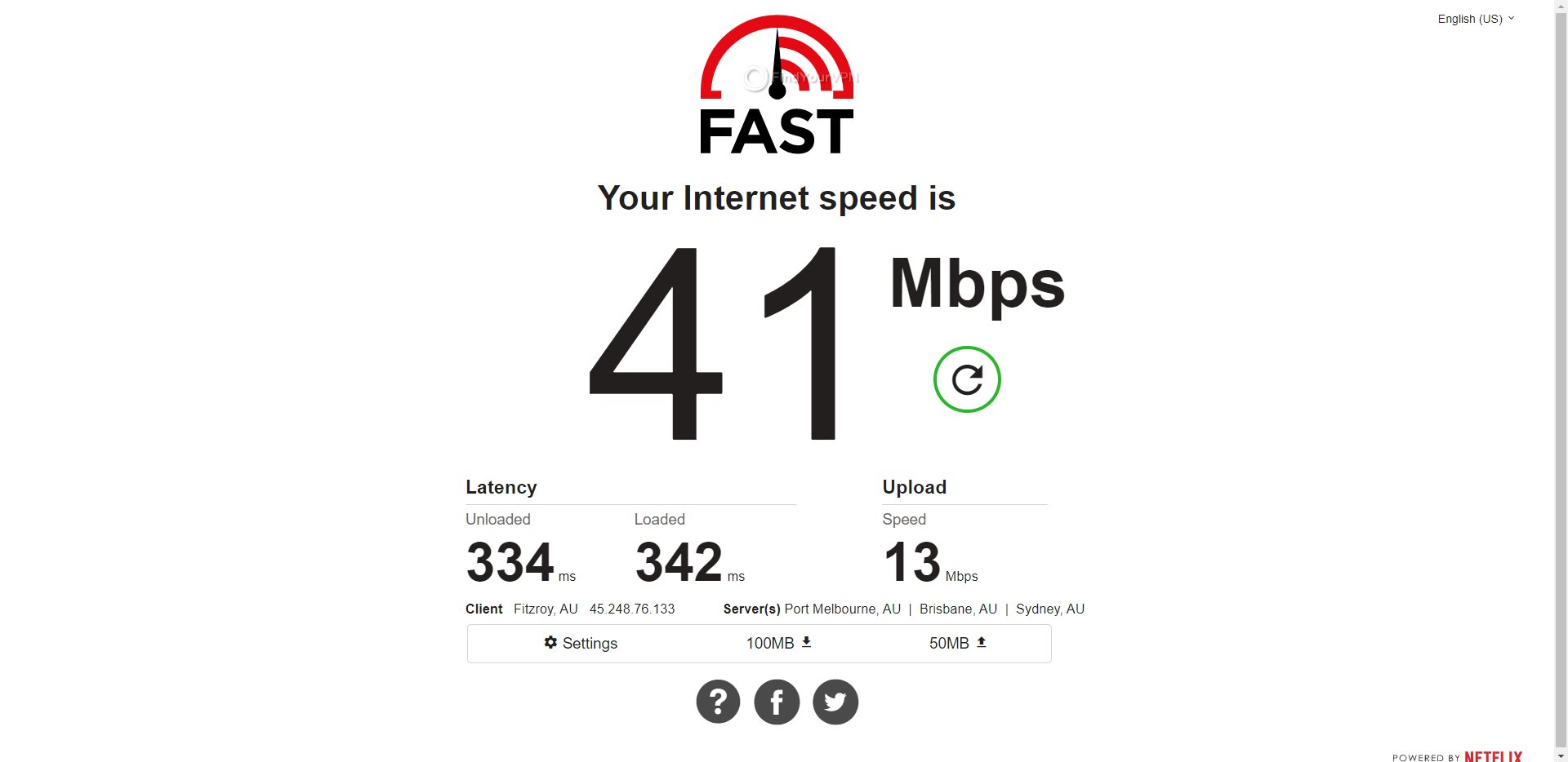 ProtonVPN Australia Speed Test Results