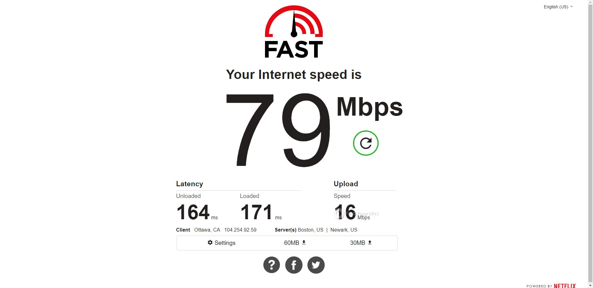 ProtonVPN Canada Speed Test Results