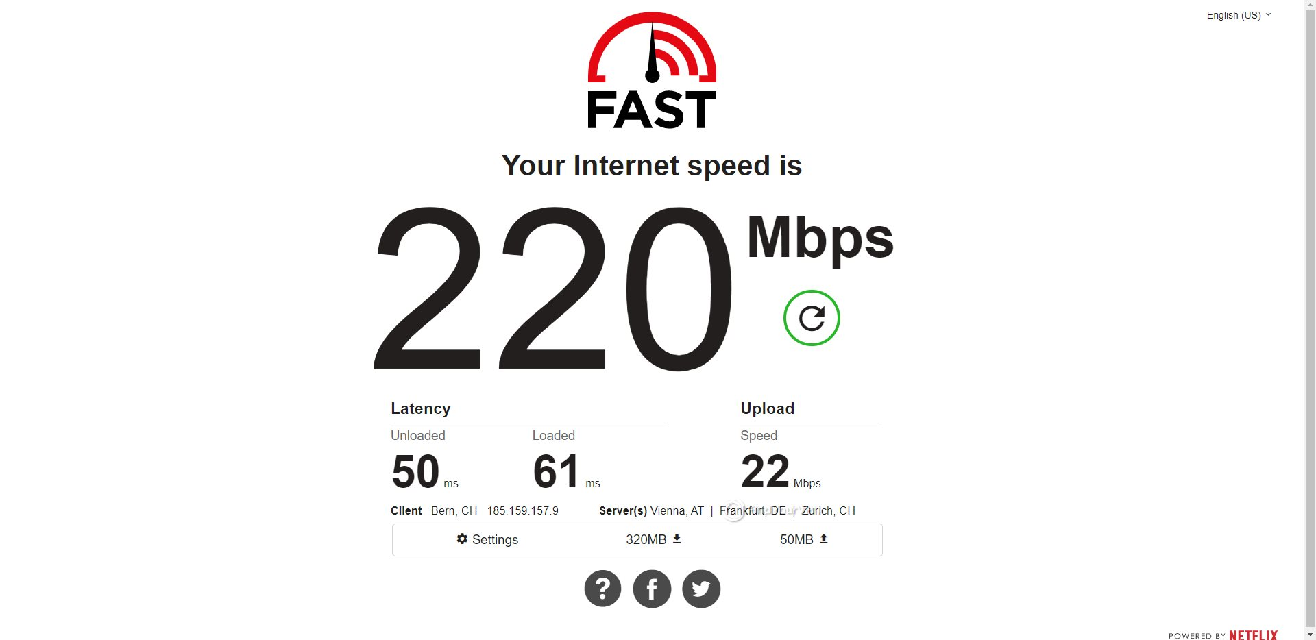 ProtonVPN Switzerland Speed Test Results