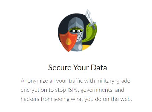 Military-grade encryption on CactusVPN website marketing