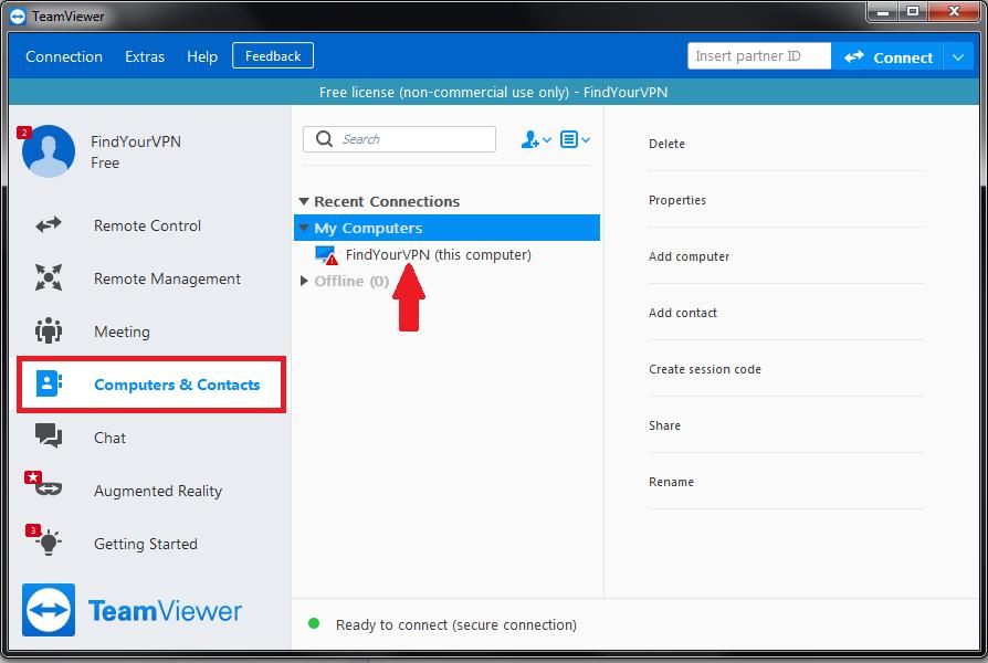 TeamViewer remote computer access