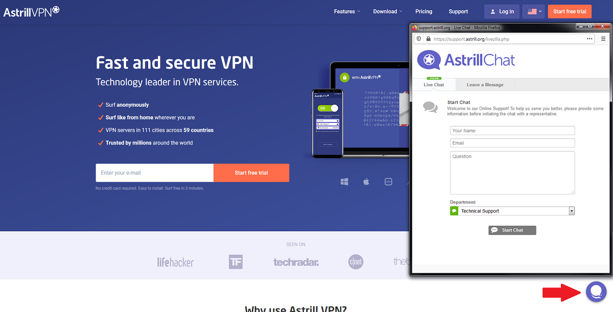 Astrill VPN 24 hour chat