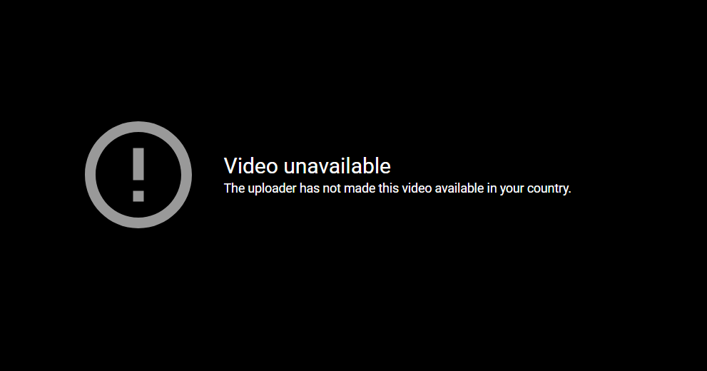 youtube video unavailable in your country notice